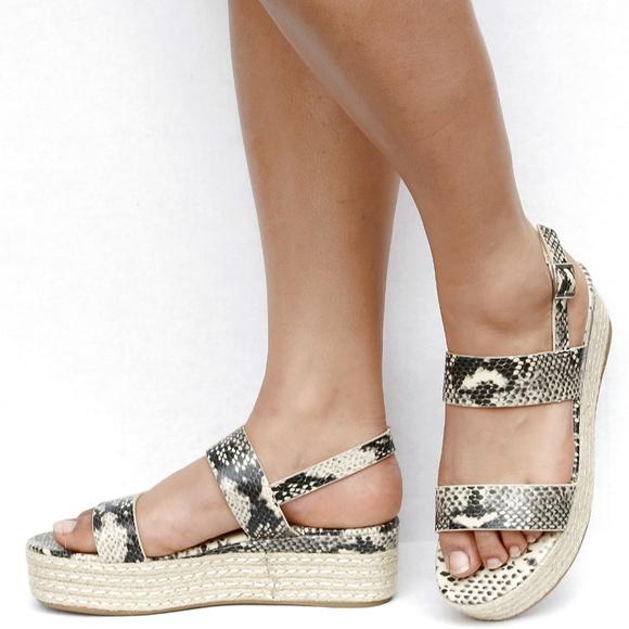4c500042276 New Python Snake Strap Platform Espadrille Sandals Boutique